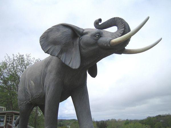 St. Thomas, Ontario (Photo: Everyspoon) Jumbo the Elephant has quite the literal name.