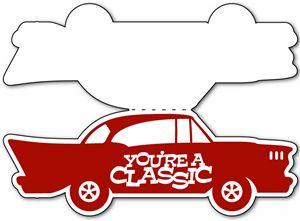 View Design: classic car card templates