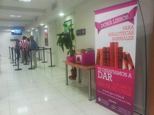 Diseño e impresion de banners para campaña de libros. Banco Credicoop. #diseño #trelew #banners #banco #credicoop #sucursal #lona #evento #unastudio