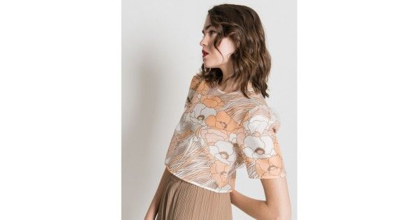 This sheer floral crop top just oozes spring. Theme it with the camel wide leg  Azzanello pants for the ultimate relaxed chic look.Cool Machine wash only.