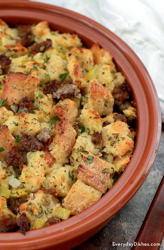 It's not really the holiday season until someone sets the stuffing on the table! This recipe will quickly become one of your favorites.