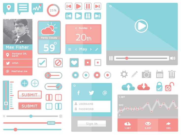 design, web, app, blue, pink, white,