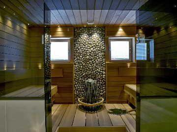 Sauna kuin kylpylä. #etuovisisustus #sunsauna