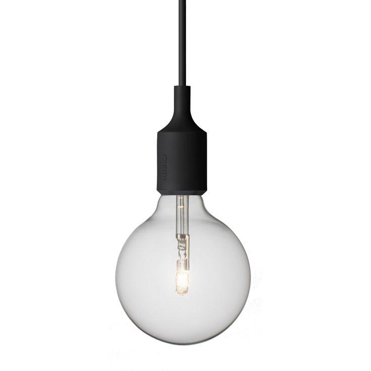 E27 lampe, sort i gruppen Belysning / Lamper / Loftlamper hos ROOM21.dk (102562)