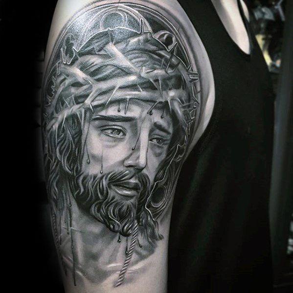 Top 51 3d Jesus Tattoo Ideas 2020 Inspiration Guide Jesus Tattoo Jesus Tattoo Design Tattoo Designs Men
