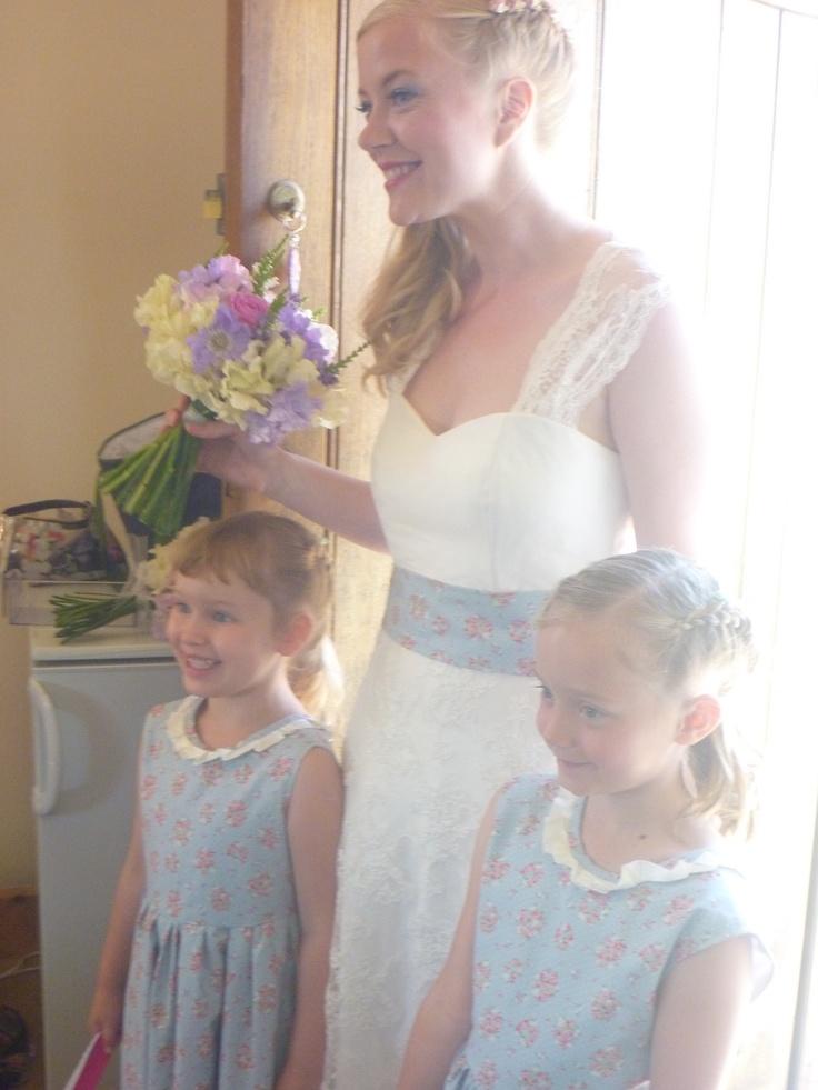 The 'Mini Sweet Pea' flower girl dresses.