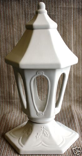 Ceramic Bisque Victorian Tabletop Lamp Dona's Mold 572  $25.20
