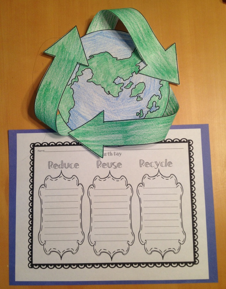 Fun activity & Writing Reduce Reuse and Recycle
