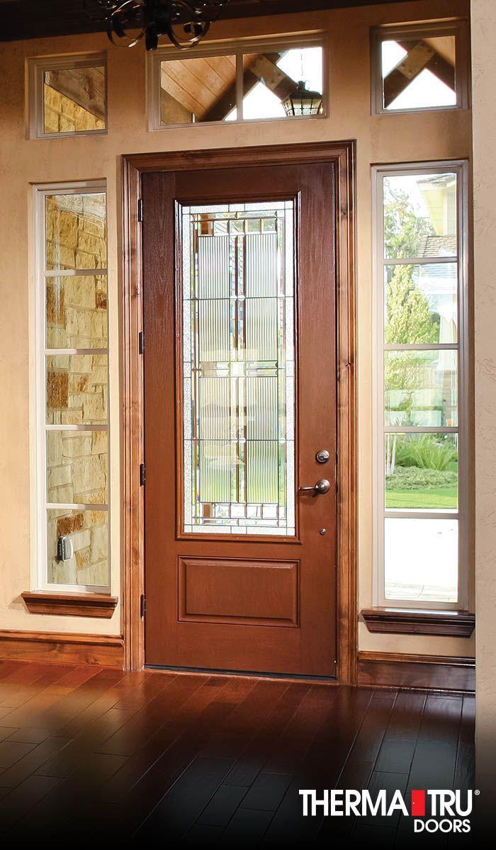 Therma-Tru Benchmark Doors WickerPark Craftsman Decorative ... |Therma Tru Fiberglass Exterior Doors