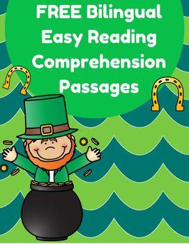Free Bilingual Reading Passages- St. Patrick's Day (Gratis -Bilingue Lectura…