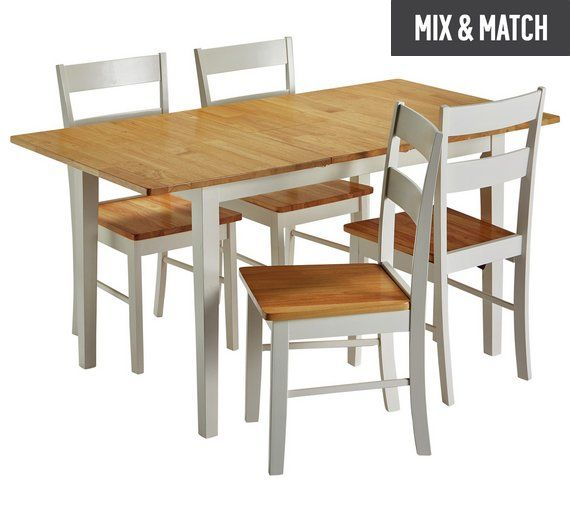 Buy Collection Chicago Extendable Solid Wood Table & 4 Chairs at Argos.co.uk, visit Argos.co.uk to shop online for Dining sets, Dining room furniture, Home and garden