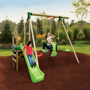 Little Tikes Strasbourg Wooden Swing and slide set