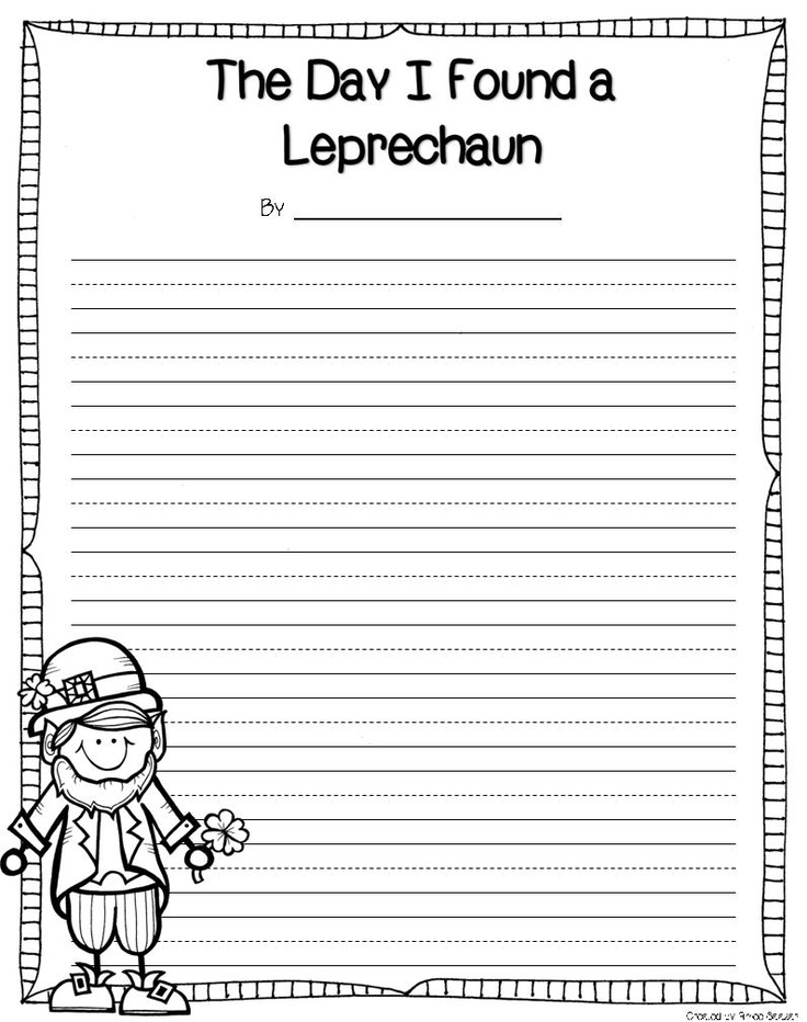 leprechaun writing paper A fill-in-the-blank leprechaun story free printable by jamie leave a comment valentine's day is just days away so that means, in my world, it's time to start thinking about st patrick's day.