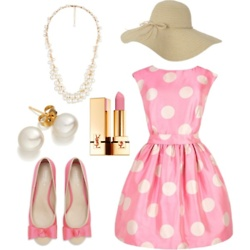 The hat needs some pink flowers for Derby, but it's a classic go-to outfit that can go from the Florida Derby through the Travers. (Unless you manage to get into a winner's circle photo, then you'll want a new outfit in case you make it into others.)