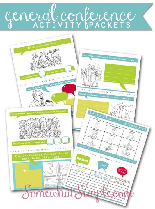 Paquete para Niños (ingles) - Conferencia General 2014 | General Conference Activity Packets