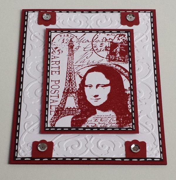 Tim Holtz, Mona Lisa,ATC-Stamp, Stempeltechnik,Vintage