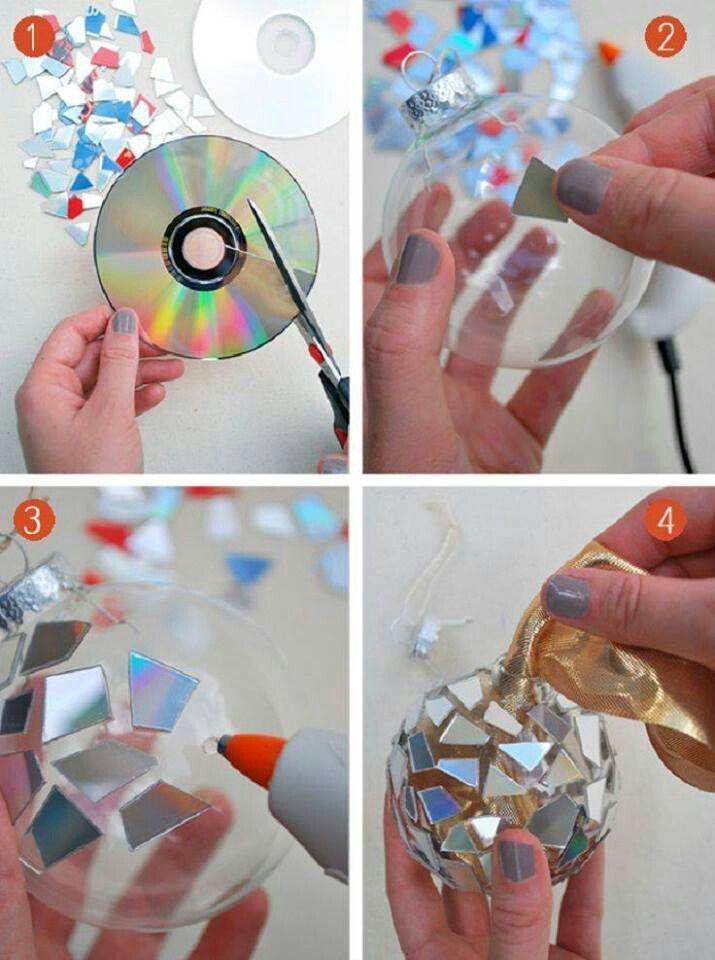 Boule de noel disco bricolage no l pinterest - Bricolage de noel pinterest ...