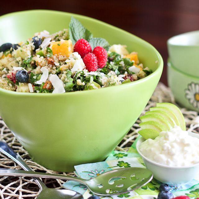 Salad for breakfast? Oh yeah! Breakfast Quinoa Salad