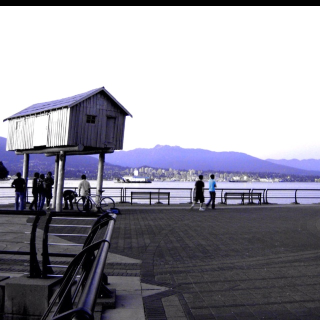 Coal Harbour seawall, a great place to watch the float planes.