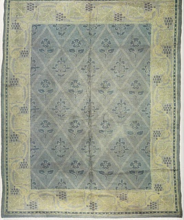 """Craftsman Rug. From Arts & Crafts Carpets, page 114. It's the """"Lisburn"""" donegal rug designed by Voysey."""