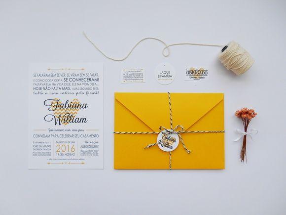 Tamanho: 15x21  Envelope: Papel Color Plus, 180g  Forro: Couche 90g  Convite: Markatto Bianco, 240g    Convite Individual: VENDIDO SEPARADAMENTE