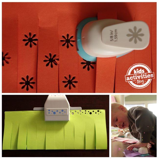 paper punch-out lanterns kids craft