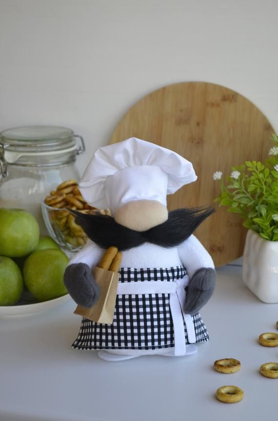 Gifts For Chef Christmas 2021 Chef Gnome Kitchen Gnome Baker Mother S Day Gift Cook Chef Etsy In 2021 Gifts For Cooks Scandinavian Gnomes Handmade Christmas Gifts