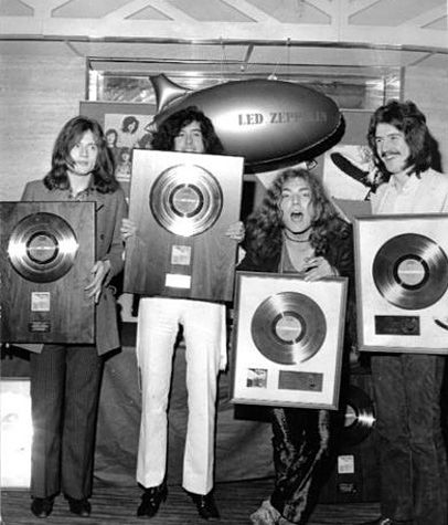 Led Zeppelin -- Gold Record Awards - Savoy Hotel in 1968 ...