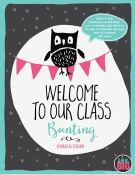 """This fun and colourful """"Welcome to our class"""" bunting will brighten up your…"""