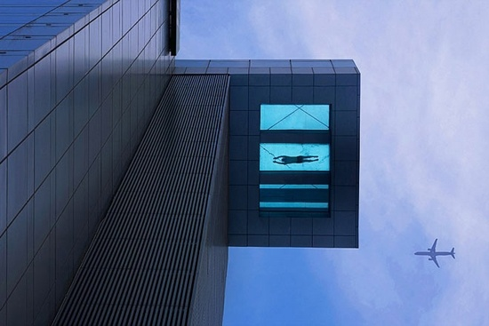 Literally float above Shanghai streets in this glass bottom pool | DVICE