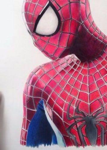 dibujos de spiderman a color para imprimir