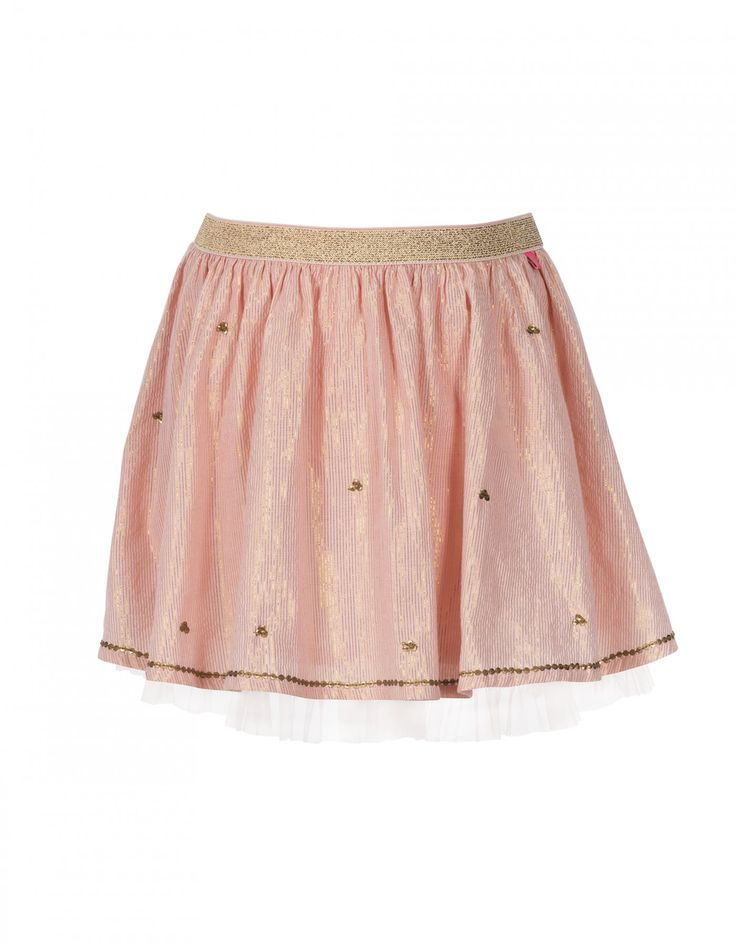 Roze rok met pailletten voor meisjes - LE BIG