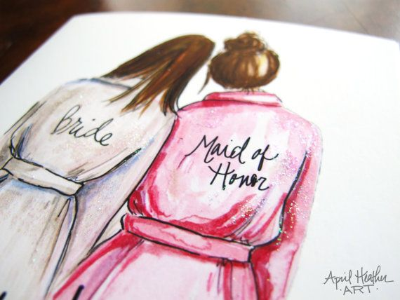 CUSTOM Will you be my Bridesmaid Maid of Honor by aprilheatherart, $10.00