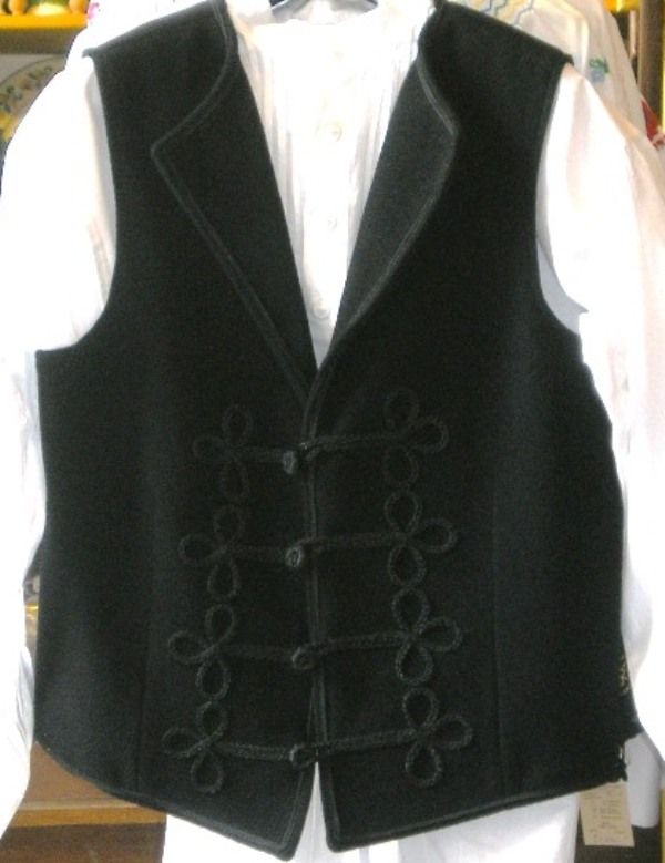 Traditional Hungarian vest for men, handmade (54)