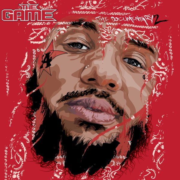 Vector Art Illustration of Rapper The Game Album Cover Submissions for The Documentary 2