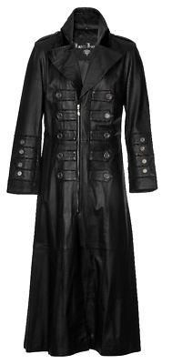 I found 'MENS GOTHIC MILITARY STEAMPUNK LONG LEATHER COAT XS-4XL' on Wish, check it out!