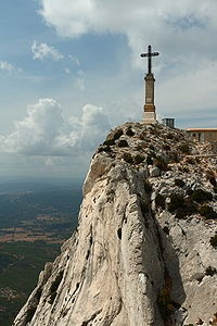 Climbed to the peak of Mt. St. Victoire, near Aix en Provence.