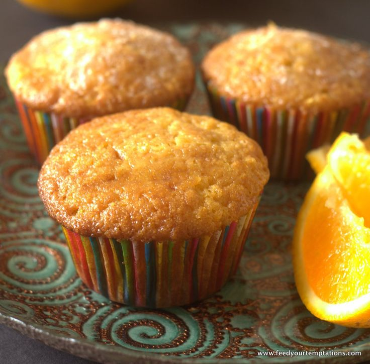 These fresh Orange Muffins are made with orange Zest and freshly squeezed orange juice. This is as orangy an orange muffin can get