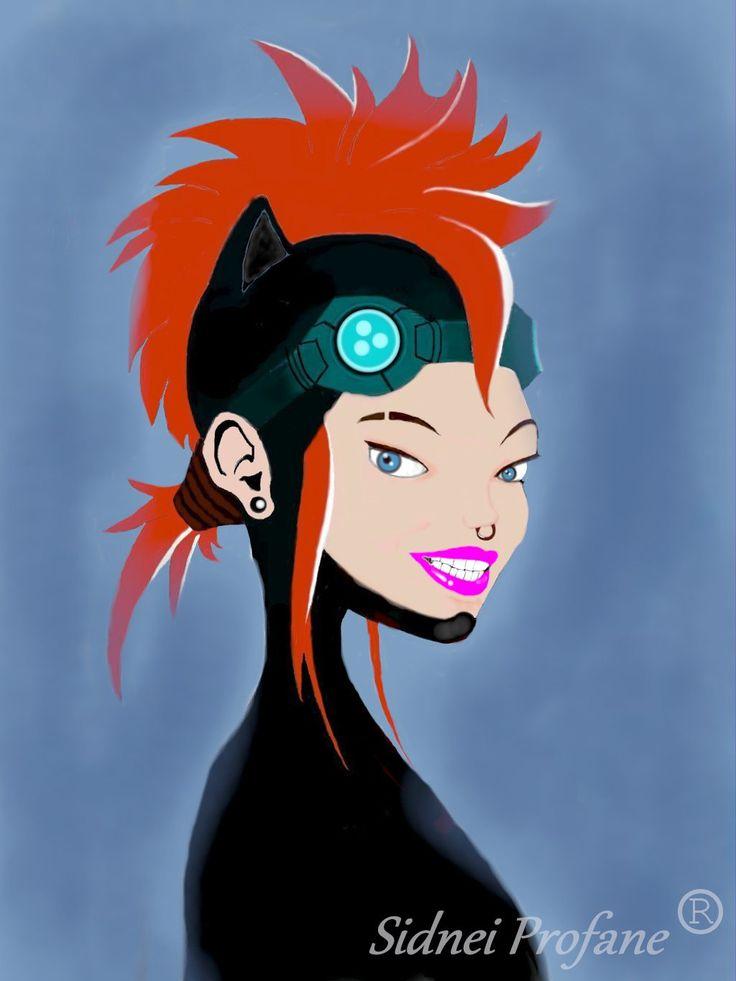 ragazza cyberpunk