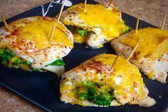 Cheddar and Broccoli Stuffed Chicken - 21 Day Fix and 21 Day Fix Extreme Approved- Dana Nicole Fitness