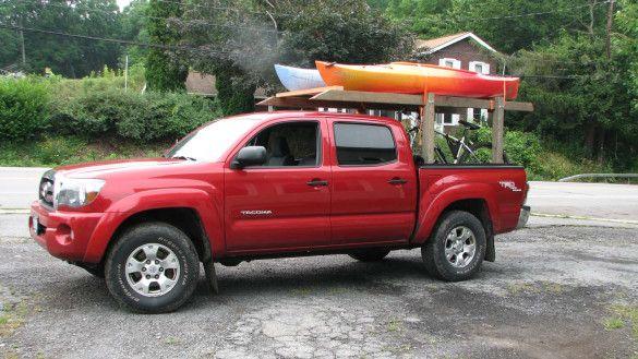 Image result for wooden kayak rack truck bed