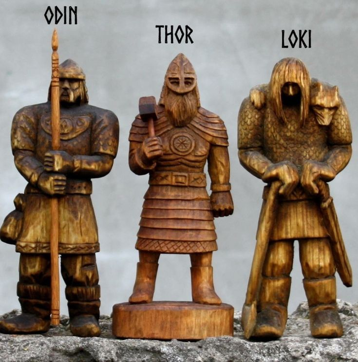 "The three most important norse gods, representing Creation, Protection, and Destruction (which is necessary for the beginning of a new Creation). They are in fact one and the same force, which moves the universe. Christianity, with it's unnatural, perverted, concept of ""good and evil"", will never understand this fact!!!"