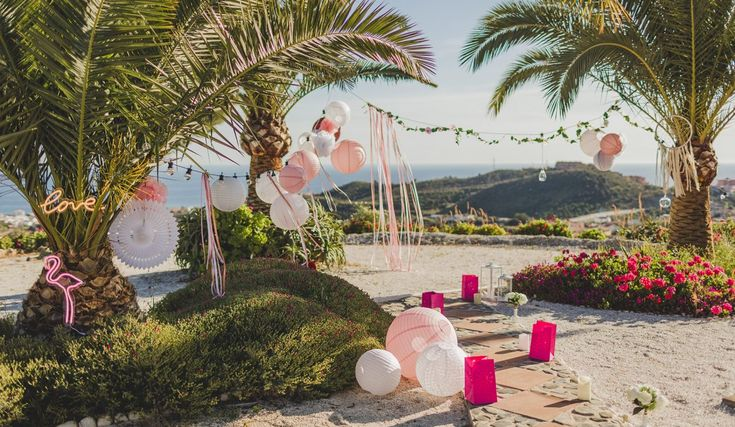 Bohemian wedding: the pink shabby decoration trend 2017-2018