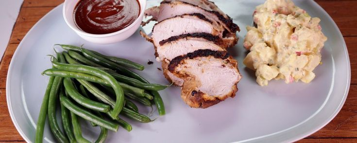 BBQ-Brined Spiced Turkey Breast with Potato Salad Recipe | The Chew - ABC.com