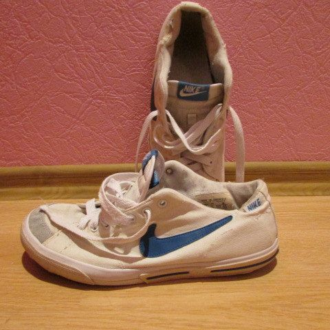 Vintage Nike sport sneakers shoes women men unisex white blue size US 7.5 €8.07