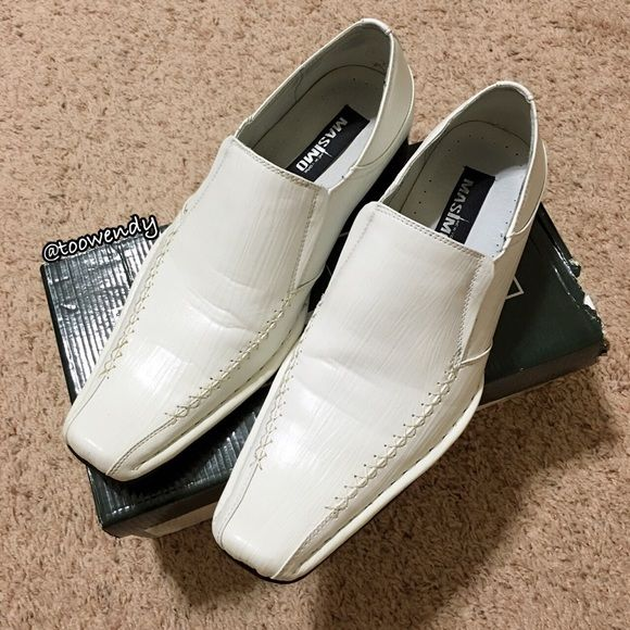 Men White Loafer Dress Shoe Not from Aldo (just want to filled in the brand) Used , in excellent condition with original box ! Only selling , no trade ! Thanks for shopping @toowendy !  ALDO Shoes Flats & Loafers