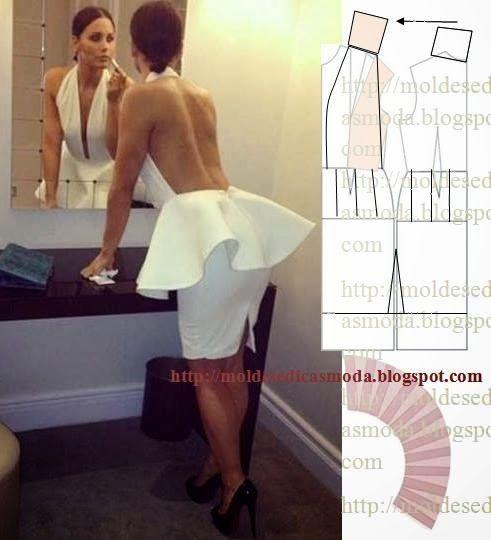 Plantillas de moda para medirla: Transformación DE VESTIDOS _60