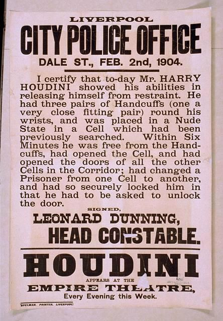 Houdini performs at the Liverpool Empire
