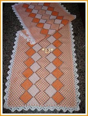 Resultado de imagen para bordado em tecido xadrez
