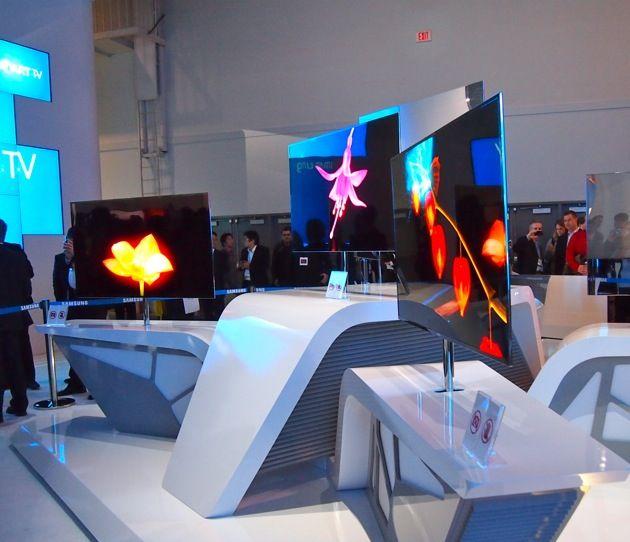 Impossibly Thin TVs at Samsung